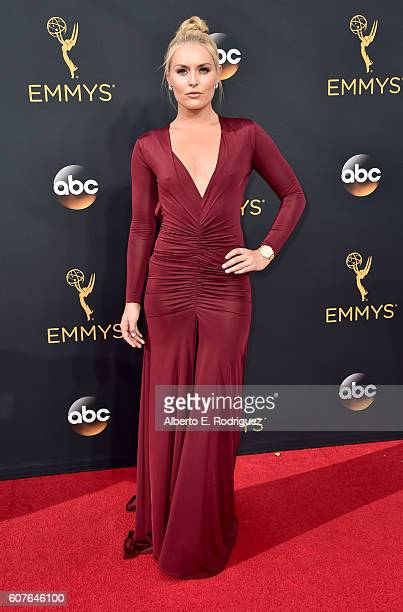 Athlete Lindsey Vonn attends the 68th Annual Primetime Emmy Awards at Microsoft Theater on September 18 2016 in Los Angeles California