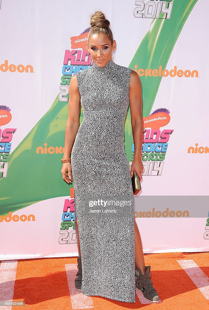 Athlete Lolo Jones attends the 2014 Nickelodeon Kids' Choice Sports Awards at Pauley Pavilion on July 17, 2014 in Los Angeles, California.