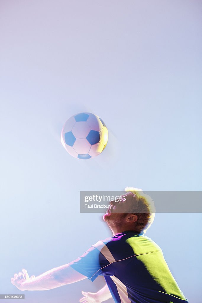 Athlete looking up : Stock Photo