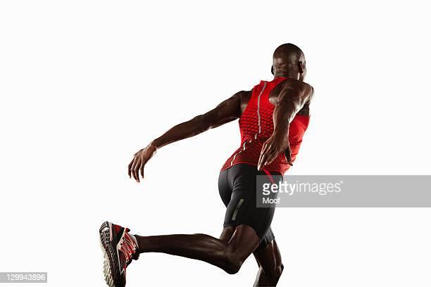 Athlete lunging