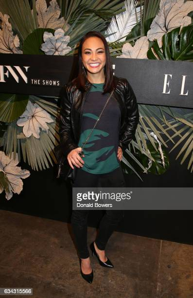 Athlete Michelle Waterson attends E ELLE IMG celebration to kickoff NYFW The Shows on February 8 2017 in New York City
