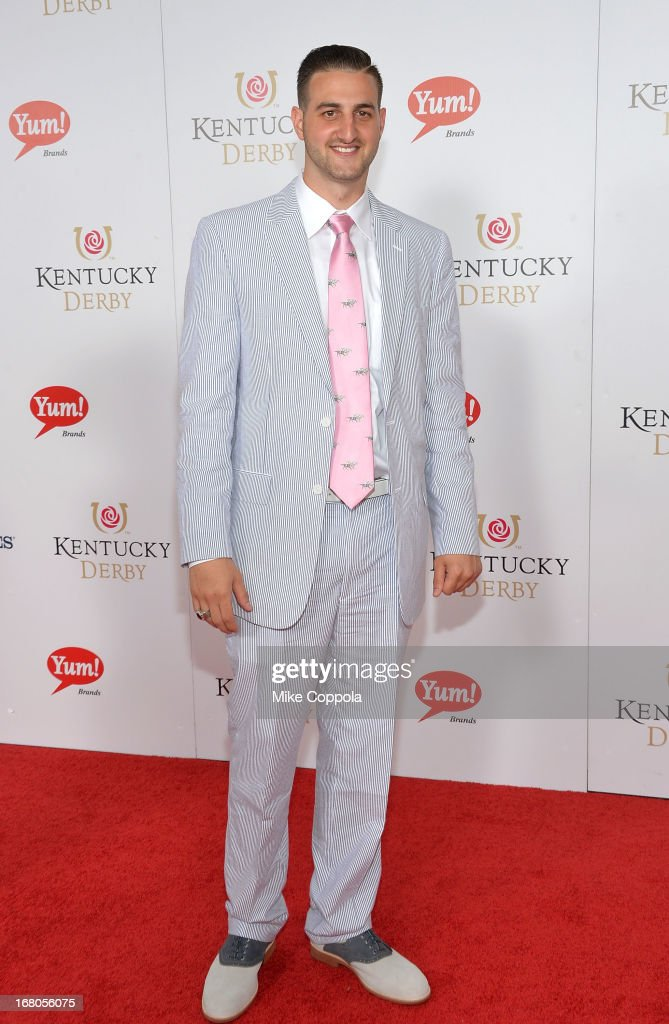 Athlete Mike Marra celebrates the 139th Kentucky Derby with Moet & Chandon at Churchill Downs on May 4, 2013 in Louisville, Kentucky.
