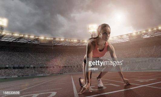 Atleta preparar a la raza