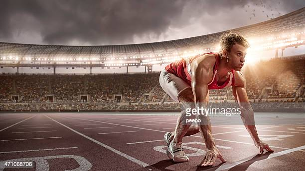 Athlete Prepares to Race