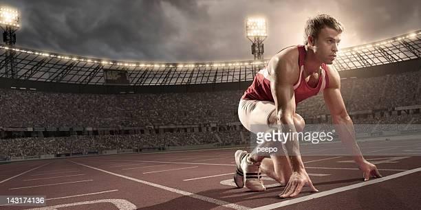 Atleta preparazione alla corsa