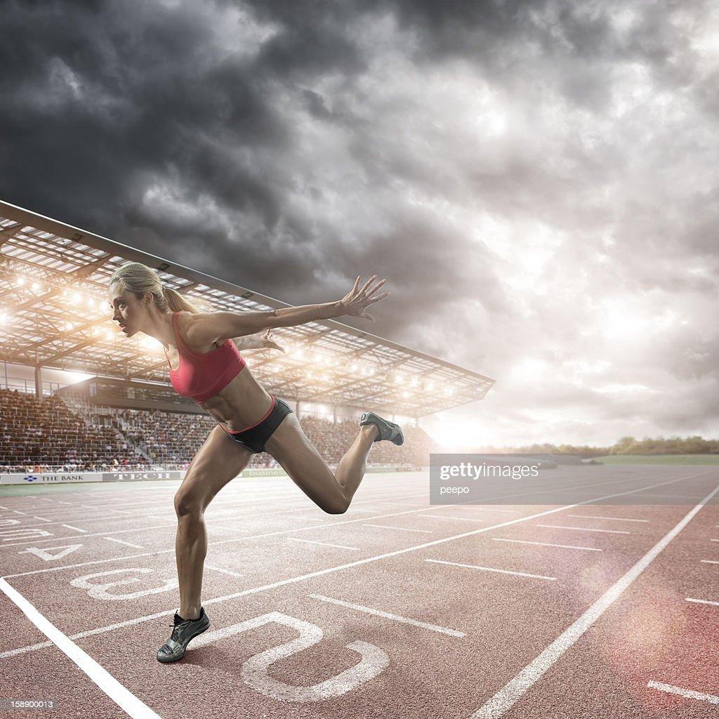 athlete running : Stock Photo