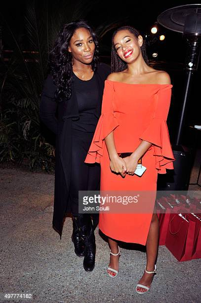Athlete Serena Williams and singer Solange Knowles attend Louis XIII Celebration of '100 Years' The Movie You Will Never See starring John Malkovich...