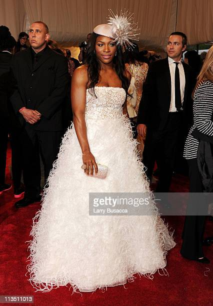 Athlete Serena Williams attends the 'Alexander McQueen Savage Beauty' Costume Institute Gala at The Metropolitan Museum of Art on May 2 2011 in New...