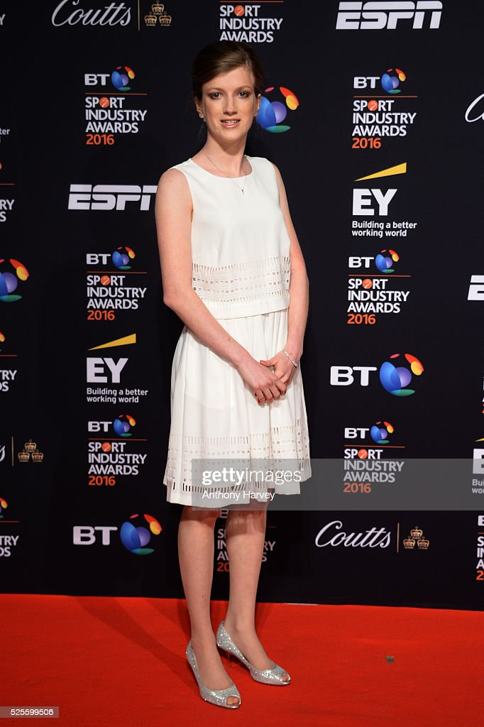 Athlete Sophie Hahn poses on the red carpet at the BT Sport Industry Awards 2016 at Battersea Evolution on April 28, 2016 in London, England. The BT Sport Industry Awards is the most prestigious commercial sports awards ceremony in Europe, where over 1750 of the industry's key decision-makers mix with high profile sporting celebrities for the most important networking occasion in the sport business calendar.
