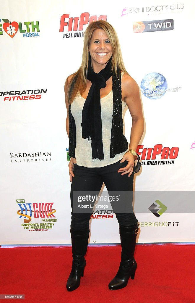 Athlete Stacy Blitsch participates in the Red Carpet Health Expo held at The Vitamin Shoppe on January 12, 2013 in Los Angeles, California.