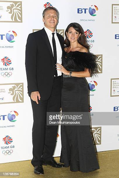 Athlete Steve Backley and wife Clare arrives at the British Olympic Ball 2011 held at Kensington Olympia on October 7 2011 in London England