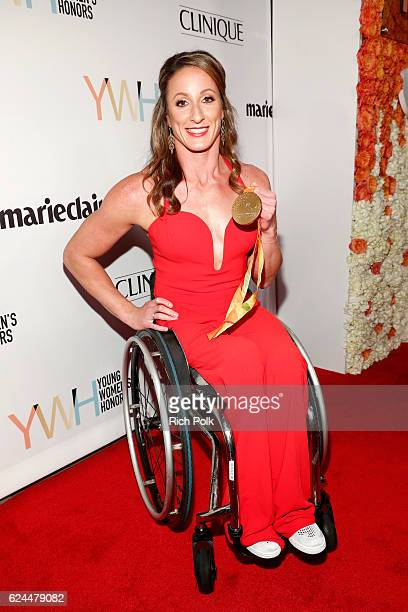 Athlete Tatyana McFadden attends Marie Claire Young Women's Honors presented by Clinique at Marina del Rey Marriott on November 19 2016 in Marina del...