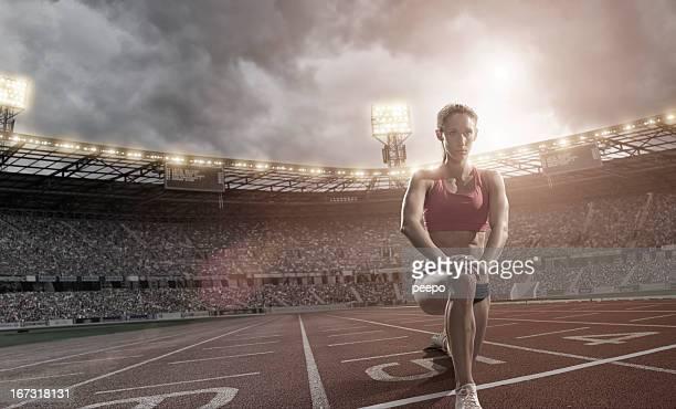 Athlete Warming Up
