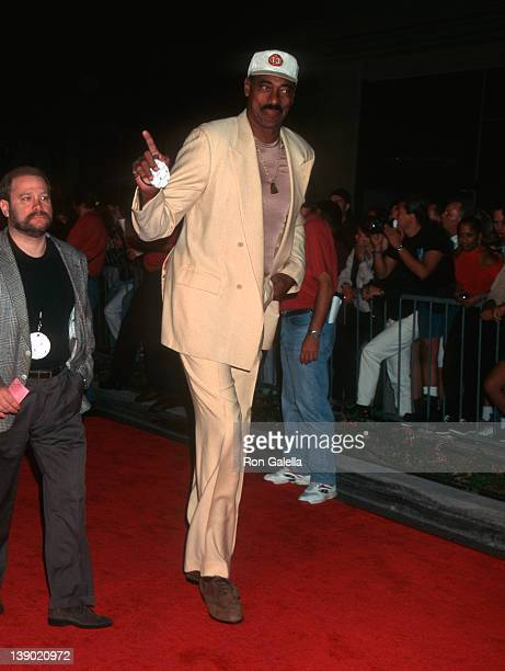 Athlete Wilt Chamberlain attends the grand opening of Planet Hollywood on September 17 1995 in Beverly Hills California