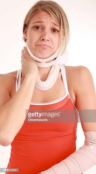Athlète avec des blessures sportives