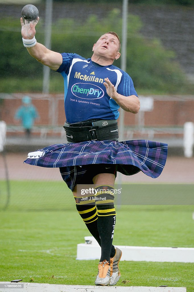 Athletes compete during the heavy event at the Cowal Highland Gathering on August 30, 2013 in Dunoon, Scotland. First held in 1894, the Cowal Games are held over three days and are one of the largest in the world attracting competitors from Canada, USA, South Africa, Australia and New Zealand.