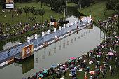 Athletes compete during the 'Mano a Mano' challenge at the Quinta da Boa Vista on June 5 2016 in Rio de Janeiro Brazil
