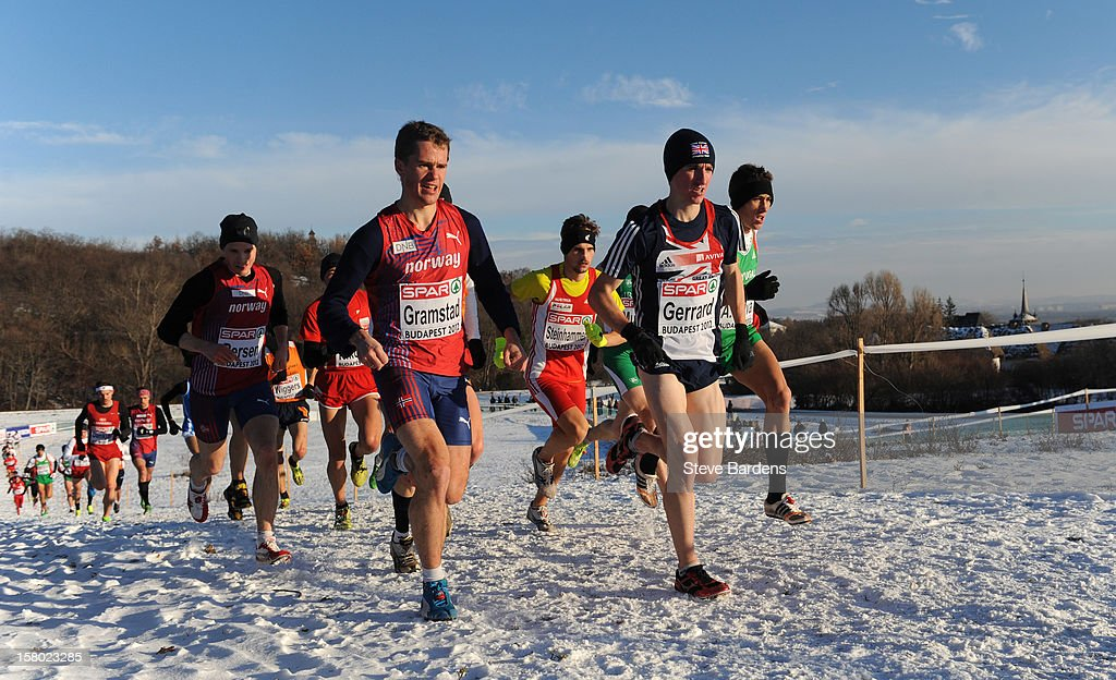 Athletes compete during the Senior Men's race during the 19th SPAR European Cross Country Championships on December 9, 2012 in Budapest, Hungary.