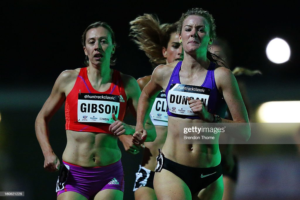 Athletes compete in the Women's 1500 metre during the Hunter Track Classic on February 2, 2013 in Newcastle, Australia.