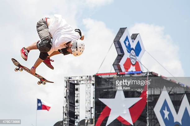 Athletes participate in Skateboard Vert Final during X Games Austin at Circuit of The Americas on June 5 2015 in Austin Texas