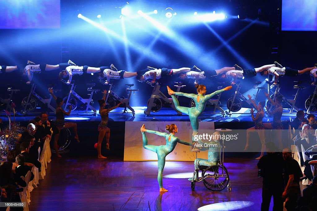 Athletes perform during the 'Ball des Sports 2013' at Rhein-Main-Hallen on February 2, 2013 in Wiesbaden, Germany.