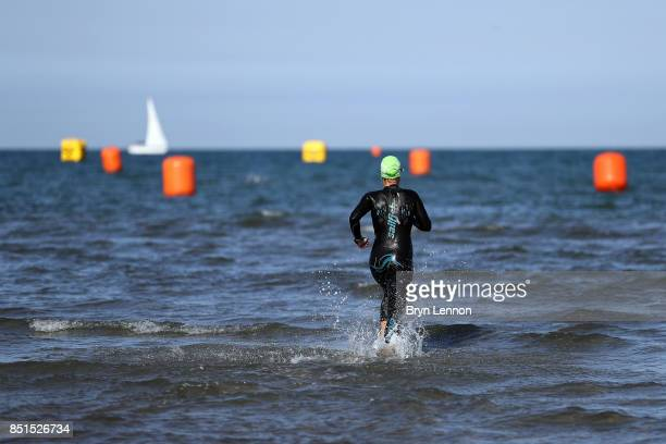 Athletes preare for the swim leg of IRONMAN Italy Emilia Romagna on September 22 2017 in Cervia Italy