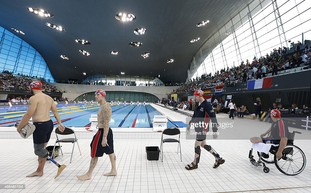 Athletes prepare to compete at the Invictus Games swimming at the London Aquatics Centre at Olympic Park on September 14, 2014 in London, England. Photo: