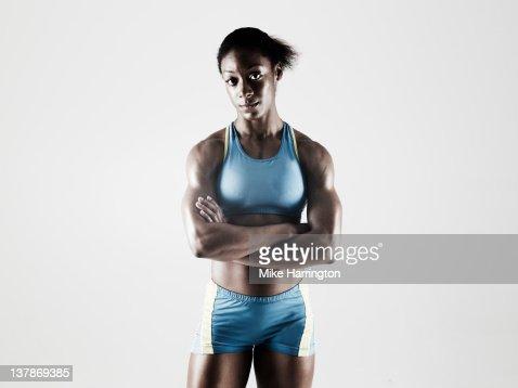 Athletic Black Female : ストックフォト