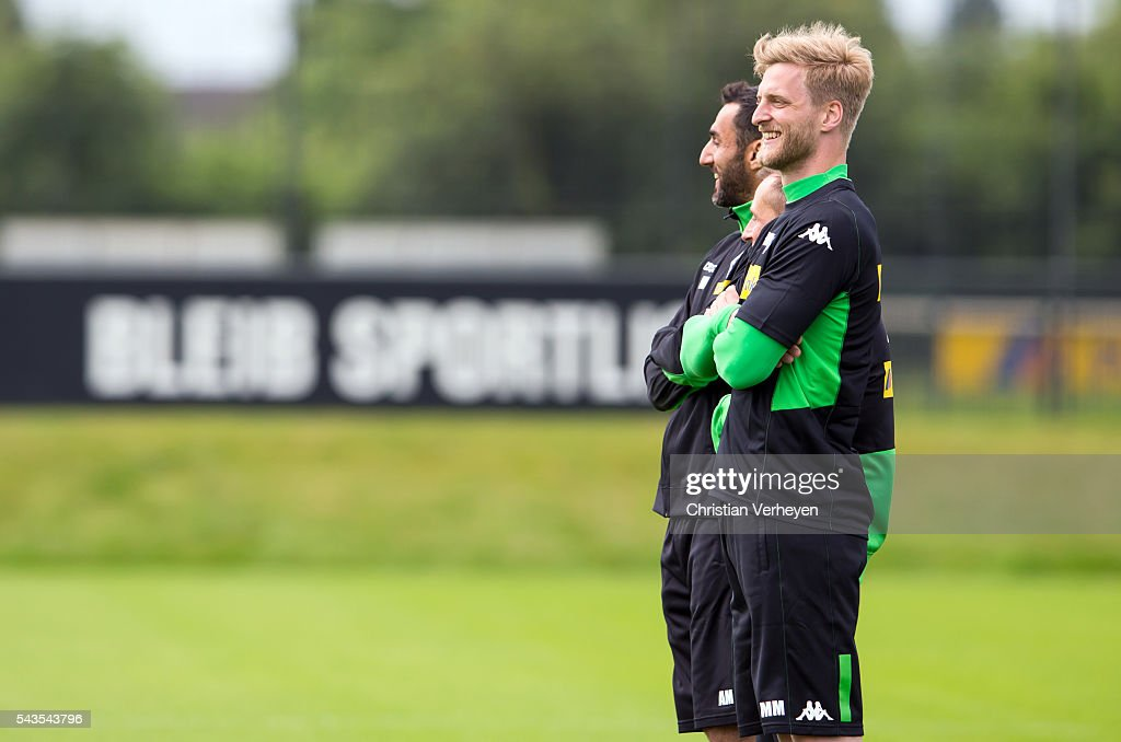 Athletic Coach Markus Mueller of Borussia Moenchengladbach during a training session at Borussia-Park on June 29, 2016 in Moenchengladbach, Germany.