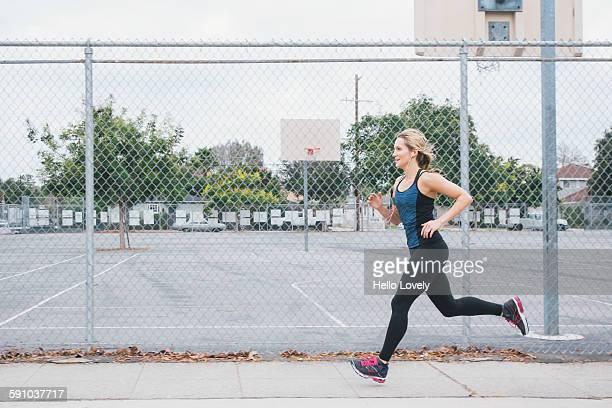 Athletic female runner