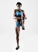 Athletic Female Stretching Leg
