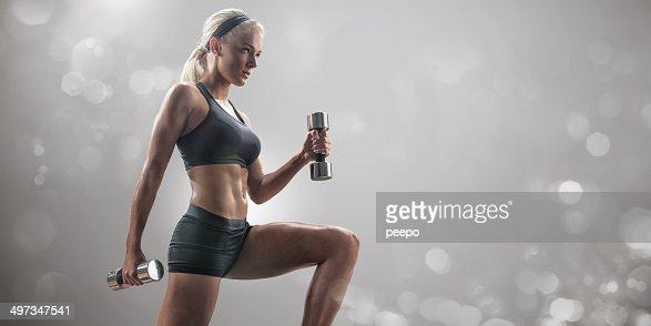 Athletic Female Training : Stock Photo