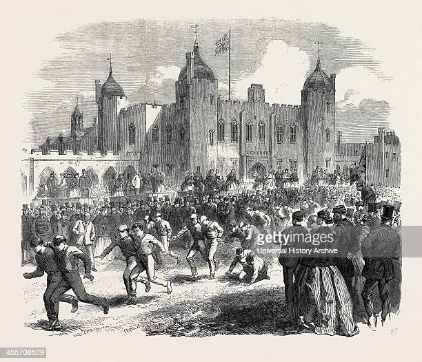 Athletic Games At The Royal Military Academy Woolwich The ThreeLegged Race Uk 1866