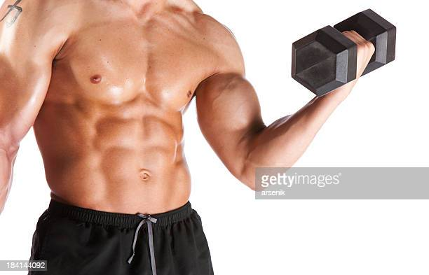 Athletic Male Lifting Weights