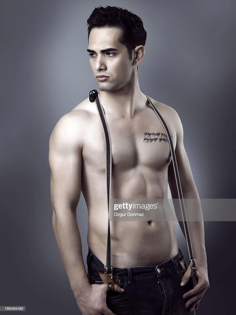 Athletic male model : Stock Photo