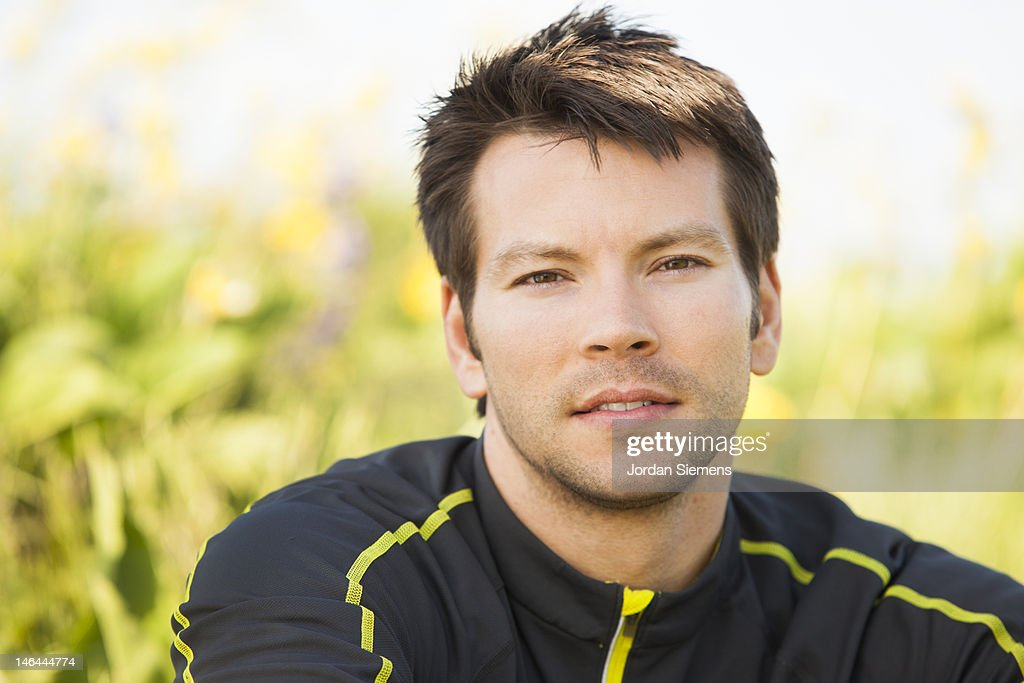 Athletic portraits. : Stock Photo