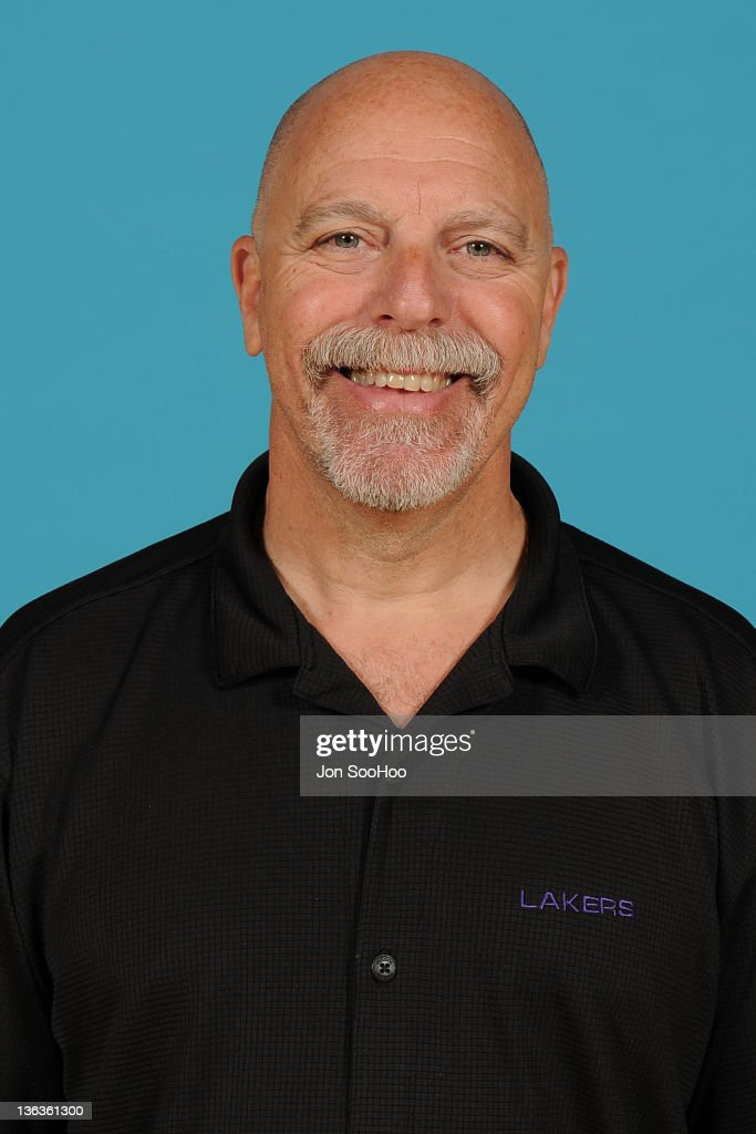 Athletic Trainer Gary Vitti of the Los Angeles Lakers poses for a photo during Media Day at Toyota Sports Center on December 11 2011 in El Segundo...
