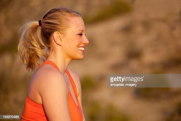 Sportliche Frau Profil-Porträt