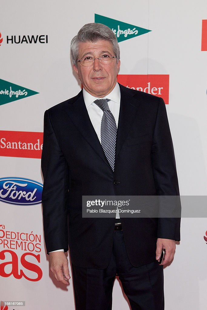 Athletico Madrid's President Enrique Cerezo attends 'As Del Deporte' Awards 2012 at The Westin Palace Hotel on December 10, 2012 in Madrid, Spain.