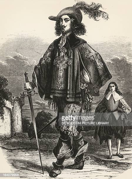 Athos illustration from The Three Musketeers by Alexandre Dumas Paris edition 1849