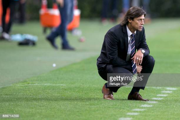 atias Almeyda coach of Chivas looks the actions during the seventh round match between Chivas and Queretaro as part of the Torneo Apertura 2017 Liga...