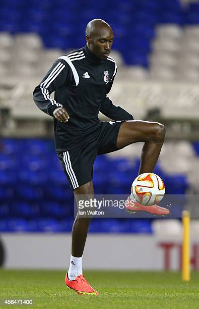 Atiba Hutchinson in action during the Europa League Besiktas Training Session at White Hart Lane on October 1 2014 in London United Kingdom