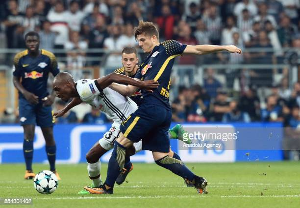 Atiba Hutchinson of Besiktas in action against Marcel Sabitzer of Leipzig during a UEFA Champions League Group G match between Besiktas and Leipzig...