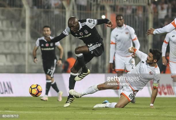 Atiba Hutchinson of Besiktas in action during the Turkish Spor Toto Super Lig match between Adanaspor and Besiktas at Adana 5 Ocak Fatih Terim...