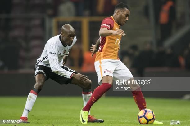 Atiba Hutchinson of Besiktas JK Garry Rodrigues of Galatasarayduring the Turkish Spor Toto Super Lig football match between Galatasaray SK and...