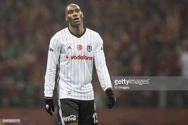 Atiba Hutchinson of Besiktas JKduring the Turkish Spor Toto Super Lig football match between Galatasaray SK and Besiktas JK on February 27 2017 at...