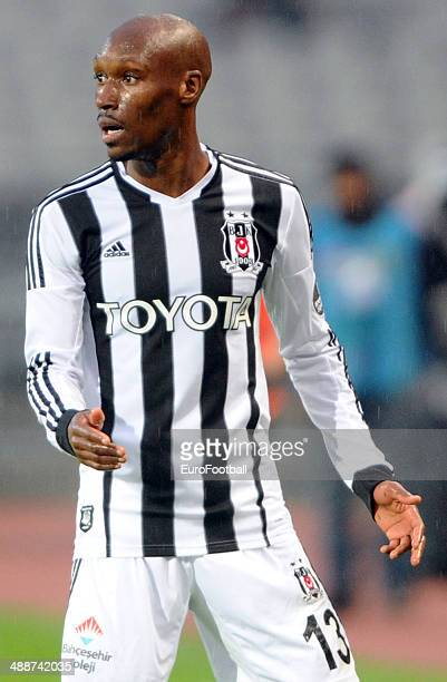 Atiba Hutchinson of Besiktas SK in action during the Turkish Super League match between Besiktas and Fenerbahce at the Ataturk Olympic Stadium on...