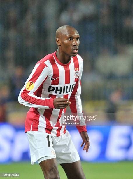 Atiba Hutchinson of PSV Eindhoven in action during the UEFA Europa League group stage match between FC Dnipro Dnipropetrovsk and PSV Eindhoven on...