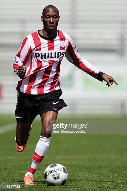 Atiba Hutchinson of PSV in action during the Eredivisie match between SC Excelsior Rotterdam and PSV Eindhoven at Woudestein Stadium on May 6 2012 in...