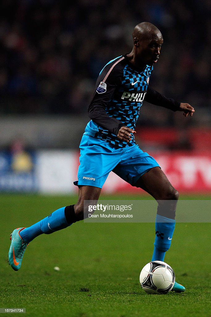 Atiba Hutchinson of PSV in action during the Eredivisie match between Ajax Amsterdam and PSV Eindhoven at Amsterdam Arena on December 1, 2012 in Amsterdam, Netherlands.